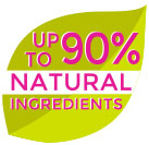 up to 90% natural ingredients